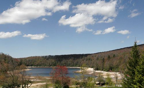 Mountain Lake is an unusual body of water near the top of Salt Pond Mountain ...